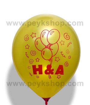 چاپ بادکنک چینی گرد - تم تولد - H&A