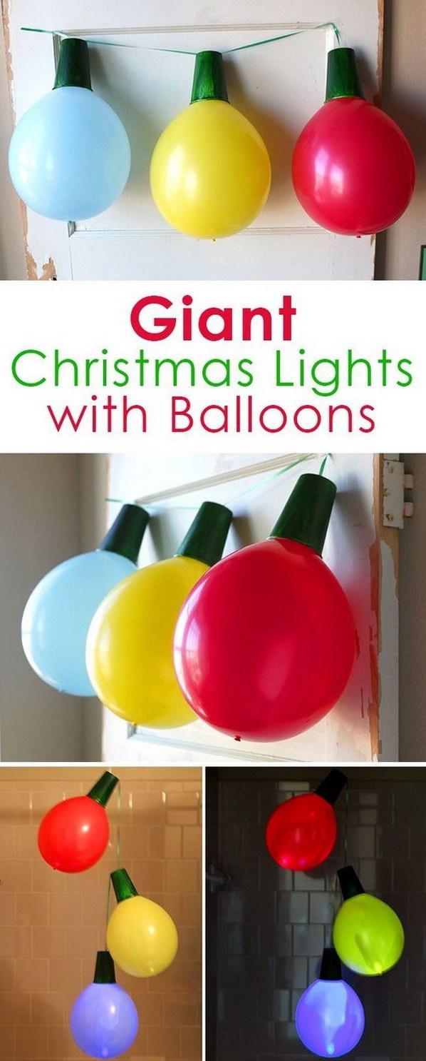 ساخت لامپ های کریسمسی با بادکنک